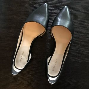 Black Pointed Toe Cole Haan Flats